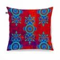 Charming Flower Motif Cushion Cover