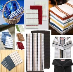 Srinath Check Kitchen Towels, Weight: 250-350 GSM