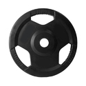 Black Rubber Coated Olympic Plates