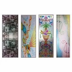 Multicolor Printed Decorative Glass, For Decoration, Packaging Type: Box