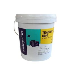 Matt Asian Paints Tractor UNO Acrylic Distemper Paint, For Wall, Packaging Type: Bucket