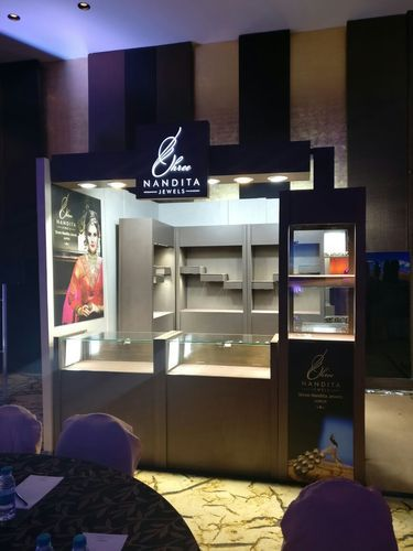 Exhibition Stall On Rent : Glass counter glass showcase jewellery display on rent