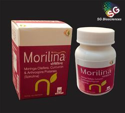 Morilina Spirulina Moringa Oleifera, Curcumin and Arthrospira Platensis Tablets, SG Biosciences