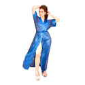 Nighties Satin Ladies Blue Night Wear