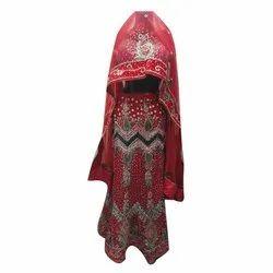 Net And Satin Ladies Bridal Lehenga Choli