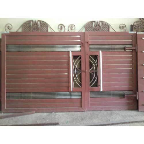 Iron gate designs for indian homes homemade ftempo for Wooden main gate design for home