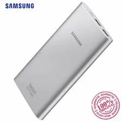 Travel Silver Samsung 10000 Mah Power Bank, Battery Type: Li On, Model Name/Number: Eb-P1100csegae