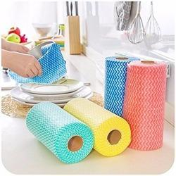 Microfiber Stripes Non Woven Kitchen Towel Roll ( Washable And Reusable), 22 X 20 cm