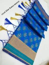 Alankrita Banarasi Art Silk Sarees, Length: 6.3 m (With Blouse Piece)