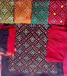 Regular Wear Bandhani Dress Material