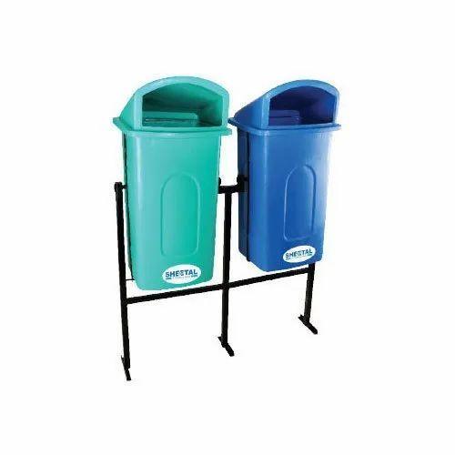 Sheetal Green Plastic Dustbins, Capacity: 60 - 80 Liters