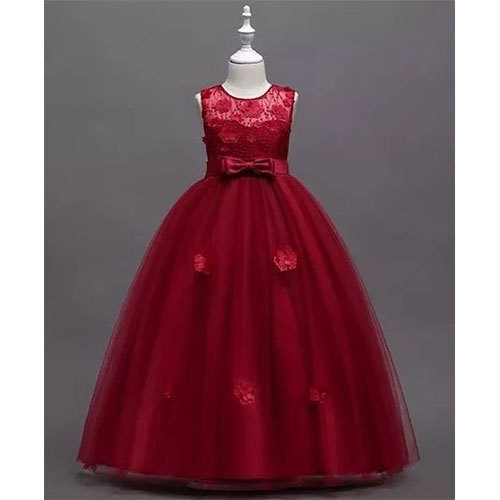 d391e9848 Net Kids Girl Red Flared Party Wear Frock, Rs 899 /piece | ID ...