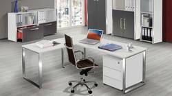Denovo L Shape Steel Office Table