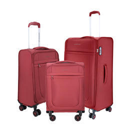 Nasher Miles Polyester Set of 3 Red Luggage(45cm, 57cm and 69cm)