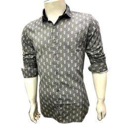Mens Full Sleeve Printed Casual Shirt, Size: M, L & XL