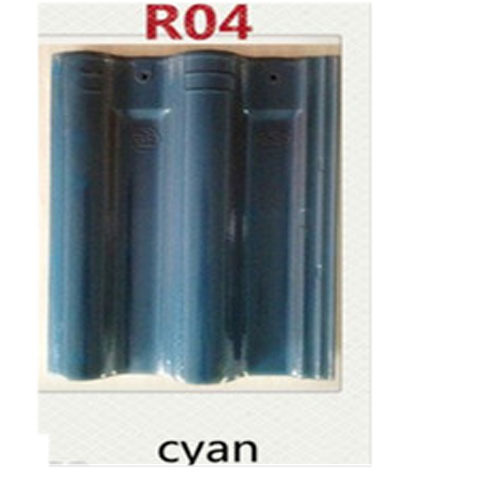 R04 Cyan Bent B Clay Roof Tile