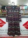 Printed Multicolor Knee Length Woolen Dress