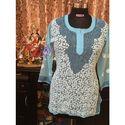Ladies Embroidery Lucknowi Short Chikan Kurti