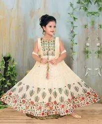 Kids Girls Silk anarkali suits