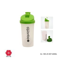 Gym Shaker Bottle with Blender Ball 600ml-GL-108-JH-007