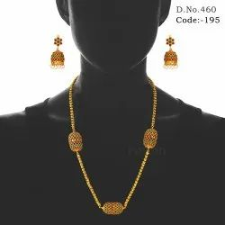 Traditional Matt Polish Chain Necklace Set