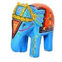 Wooden Handmade Handpainted Elephant Statue
