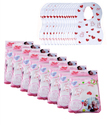 Hanki Pink And White Disposable Baby Bibs_pack Of 8