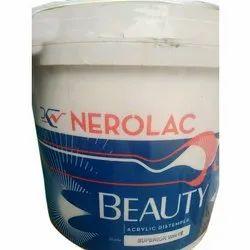 Matt Nerolac Beauty Acrylic Distemper Paint, Packaging Type: Bucket