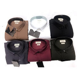 Cotton Formal Plain Men Shirt