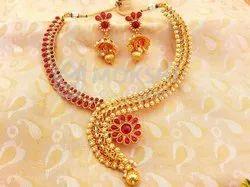 Pink Kemp Necklace Set