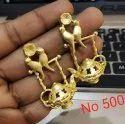 Metal Designer Polki Earrings