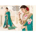 Ladies Teal Green Art Silk Saree