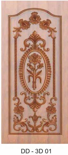 DD-3D 01 Designer Wooden Door