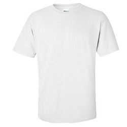 White Plain Mens Cotton T-Shirt