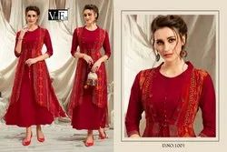Impression-Vee Fab Latest Designer Rayon Trendy Kurtis Collection