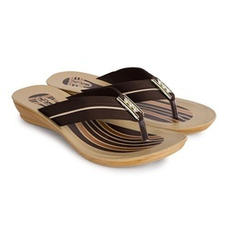 Women PU Ladies Brown Slipper, Size: 5 And 8 And 9