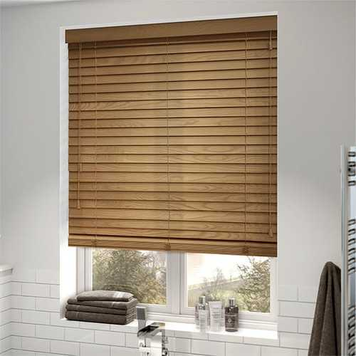 Wooden Brown Blinds for Window