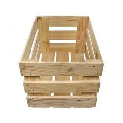 Single Faced Rectangular Wooden Storage Crate, For Shipping