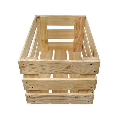 Rectangular Wooden Storage Crate