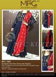 MFC-1601 One Piece Dress With Dupatta