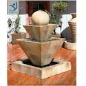 Uniform Sandstone Outdoor Stone Water Fountain, Size: Customizable