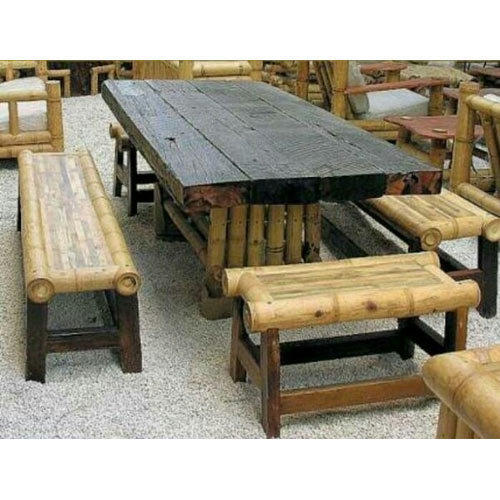 Bamboo Table With Design: Bamboo Restaurant Dining Table At Rs 28000 /set