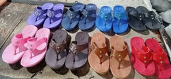 Casual Wear Plain Ladies Eva Sole Hawai Chappals, Size: 5-8