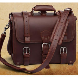 Dark Brown Leather Portfolio Bag