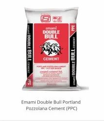 PPC (Pozzolana Portland Cement) Emami Double Bull Cement, Packaging Size: 50kgs, Cement Grade: Grade 53