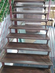 Natural Wooden Steps Staircase