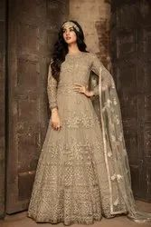 Ethnic Lovely Bride Net Embroidery Work Bollywood Anarkali Gown
