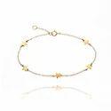 Top Model New Design Star Charm Chain Gold Plated Handmade Bracelet