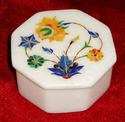 Marble Inlay Box, For Home, Rectangular