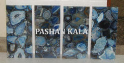 Natural Blue Agate Tile